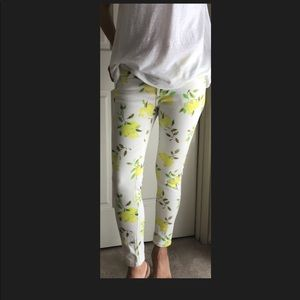 Kate Spade Broome Street Capri Lemon Jeans Size 25